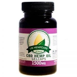CBD Hemp Oil Gelcaps 1500mg