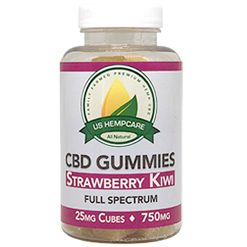 750mg-CBD Gummie- Strawberry Kiwi